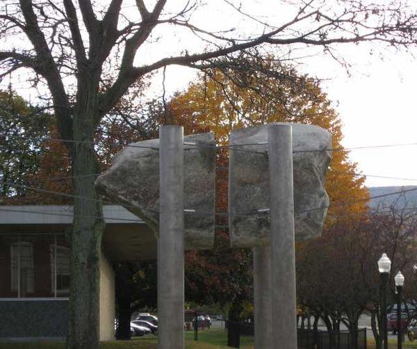 sculpture  don gummer u0026 39 s big rock in north adams  mass