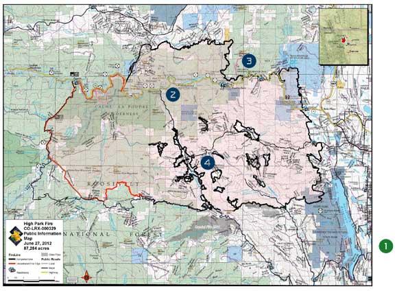High Park Fire Map.The Independent Stitch